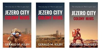 Some cover ideas for the new book – Jezero City