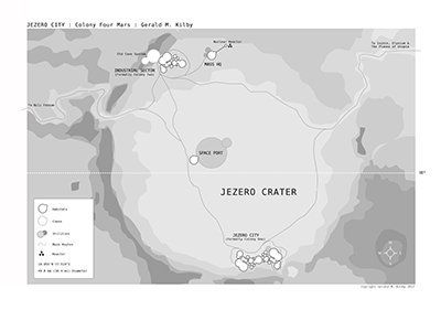Detailed map of Jezero Crater for the new book
