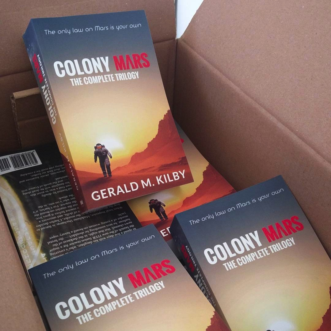 A big box of books just in. I'm planning a book launch sometime soon. Really it's just an excuse for a party.