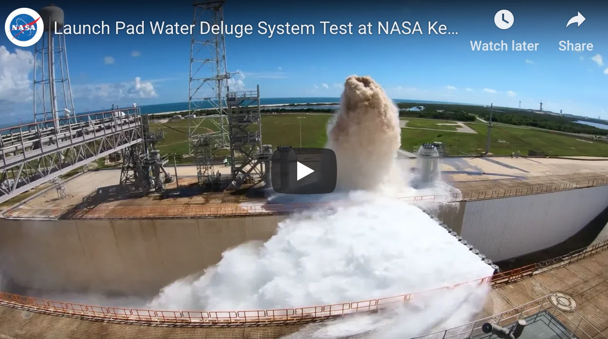Watch NASA pump 450,000 gallons of water in less than a minute.