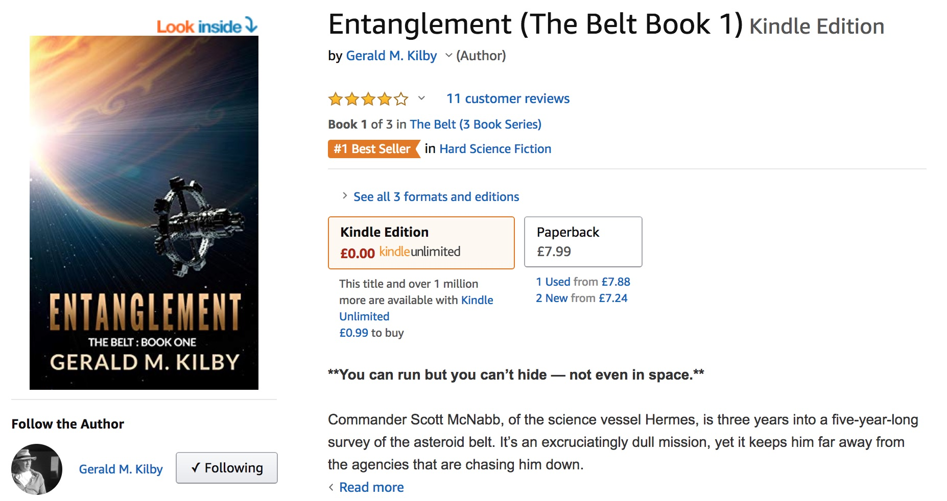 Entanglement hits number 1 in UK.