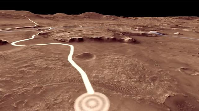 Drive with Nasa's next Mars rover through Jezero Crater