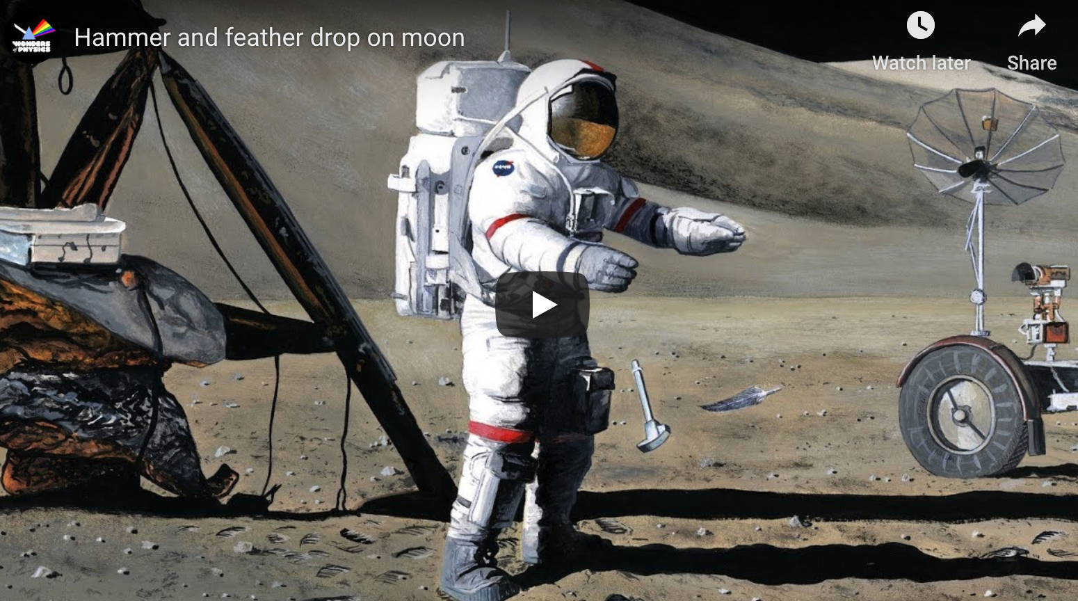 What Happens When You Drop A Feather And A Hammer At The Same Time On The Moon?