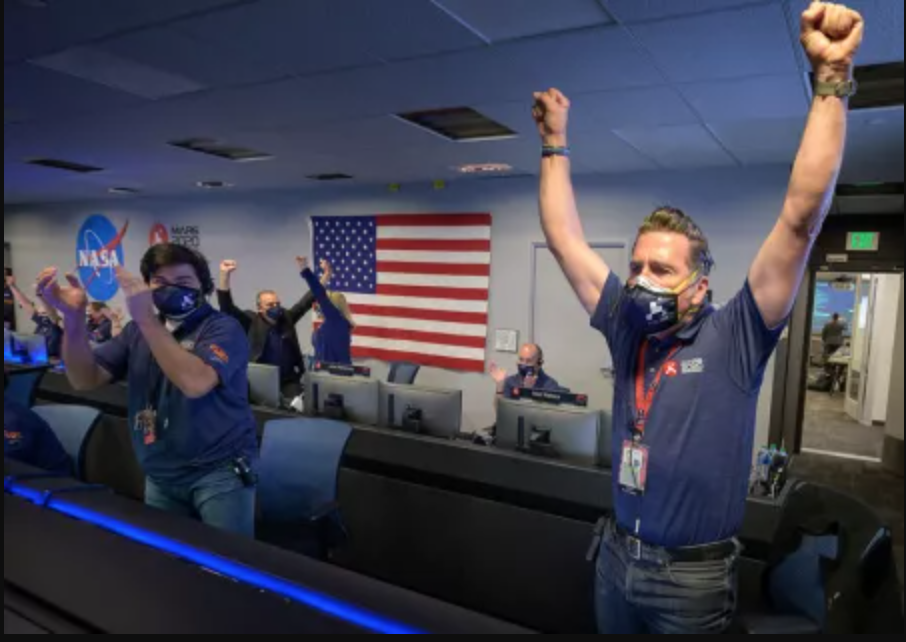 Touchdown! NASA's Perseverance rover lands on Mars.